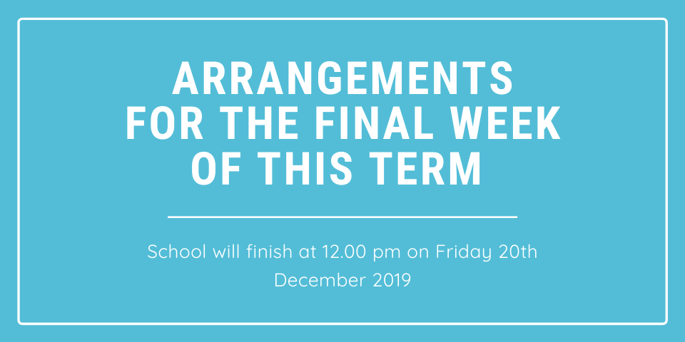 Arrangements for the final week